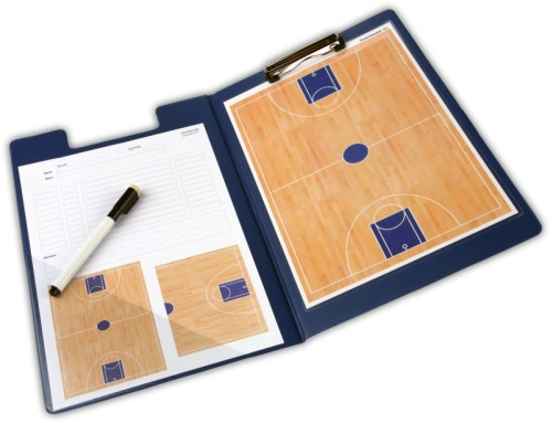 Basketball-Taktikmappe inkl. 10 Spieltageblätter