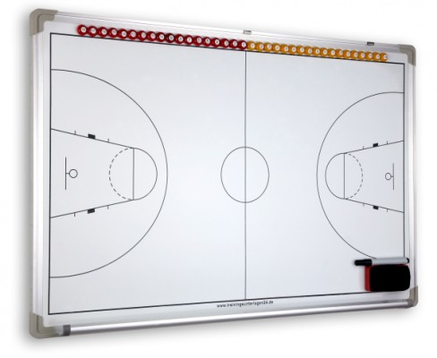 Basketball – magnetische Taktiktafel